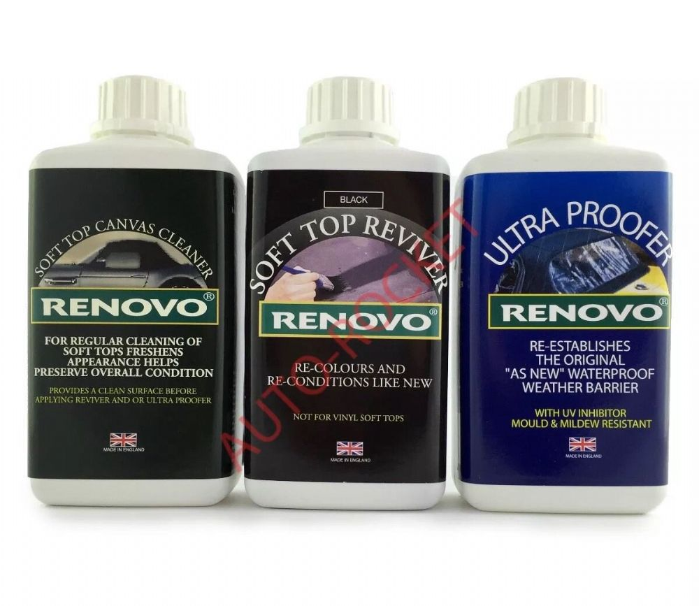 Renovo Black Restore Kit Soft Top Canvas Cleaner
